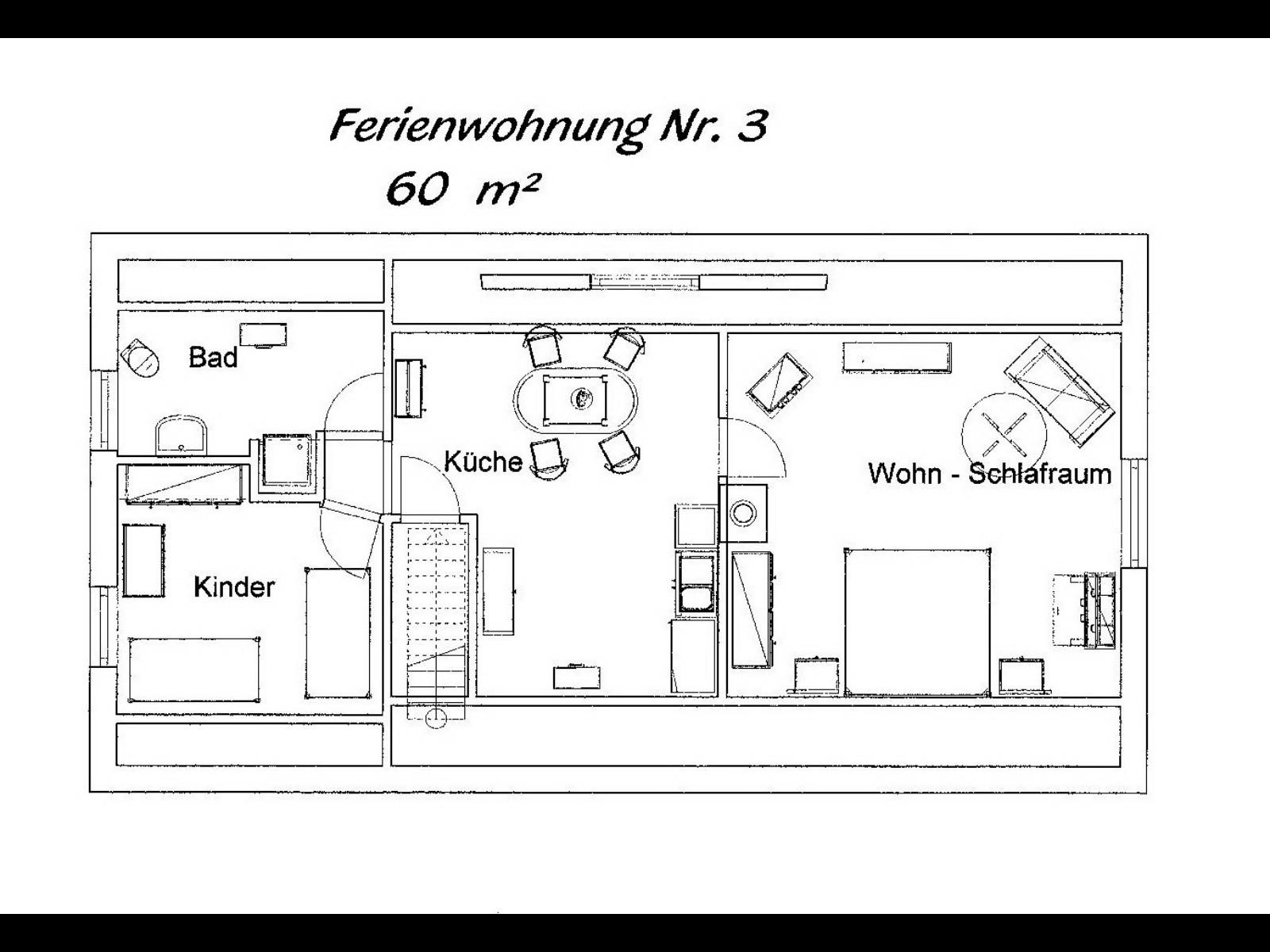 Wohnung 3, 60 Qm